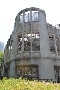 A-Bomb Dome, Hiroshima, near the epicentre of the first atomic bomb ever detonated on a human population.